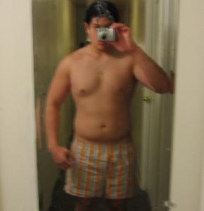 Right before deciding to do a bodybuilding contest.